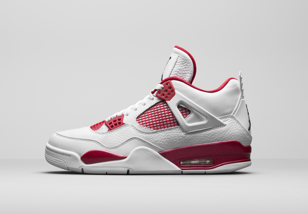 air jordan retro 4 rouge blanc