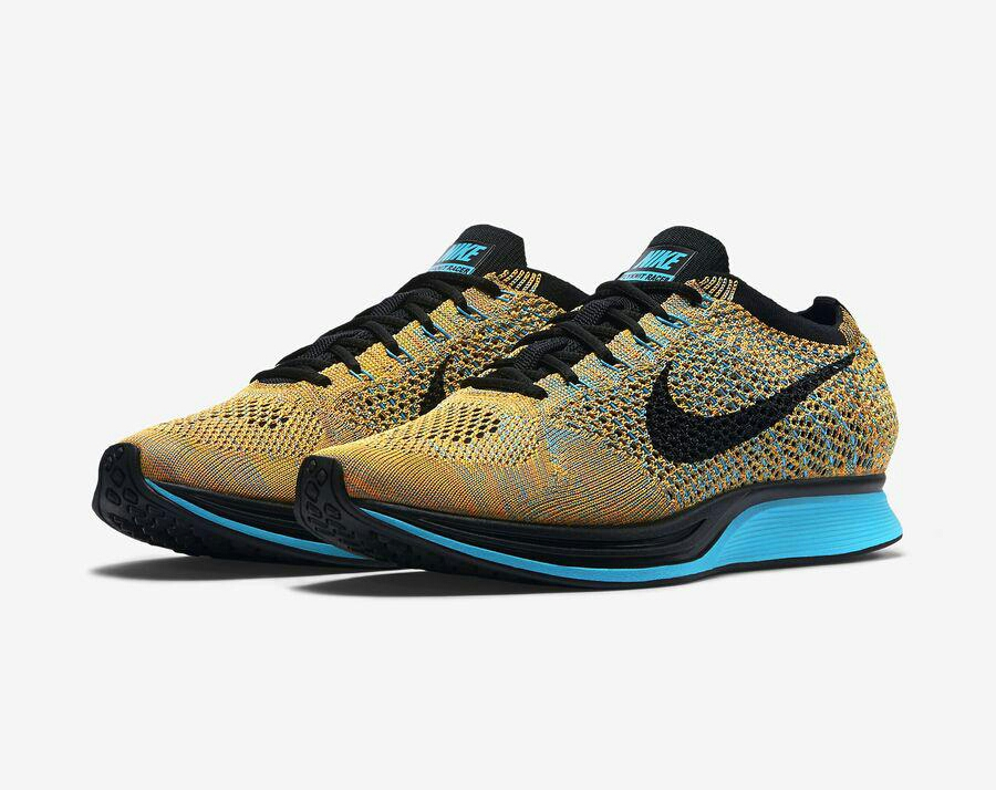 nike flyknit racer sherbet le site de la sneaker. Black Bedroom Furniture Sets. Home Design Ideas