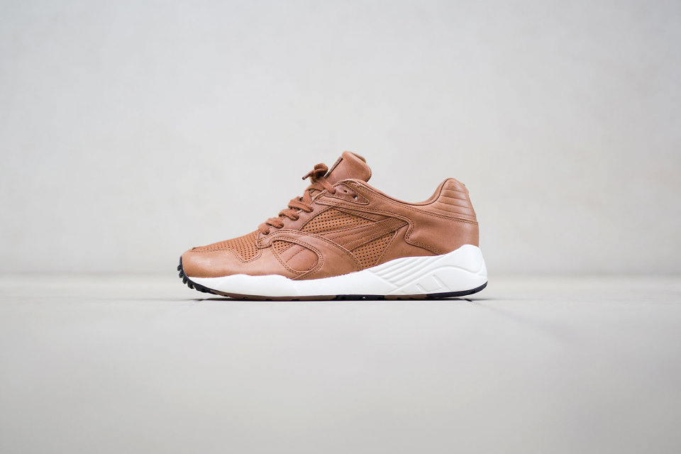 puma trinomic cuir marron