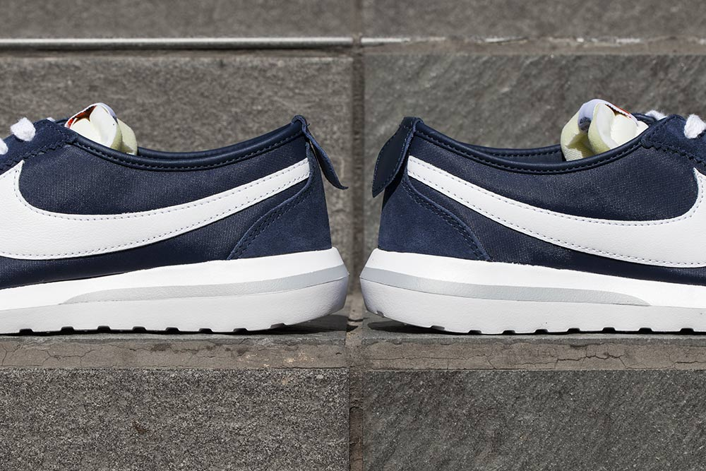 A Preview Of The fragment design x Nike Roshe Cortez in Navy