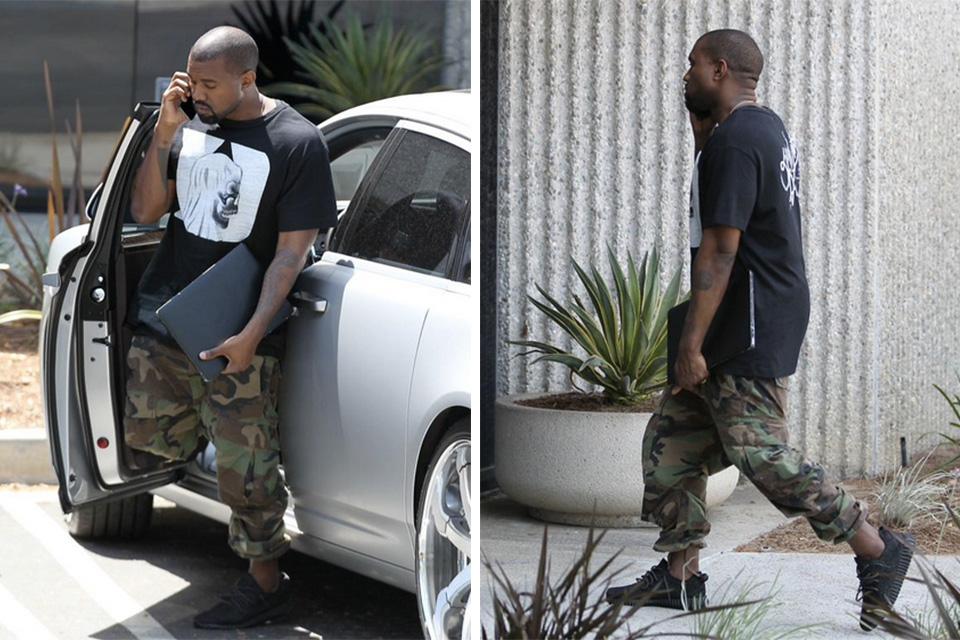 Kanye West repéré avec les Yeezy Boost 350