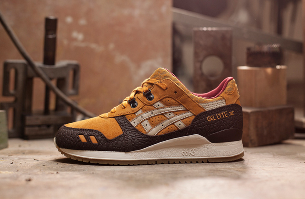 asics gel lyte 3 beige marron