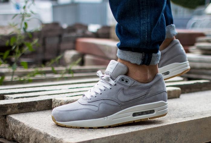 Nike Air Max 1 LTR Premium Medium Grey - Le Site de la Sneaker