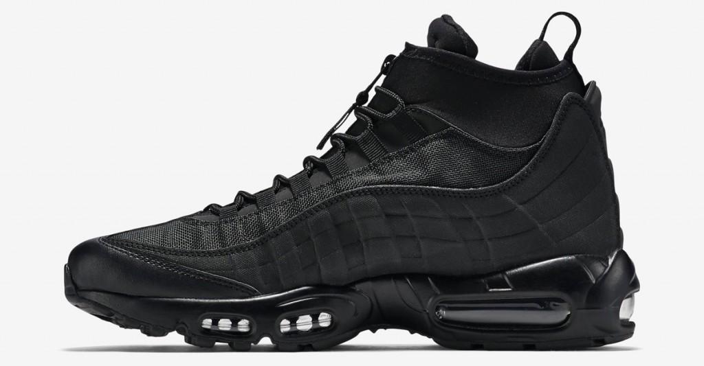 on sale 278dd f2c57 Nike Air Max 95 Sneakerboot Triple Black