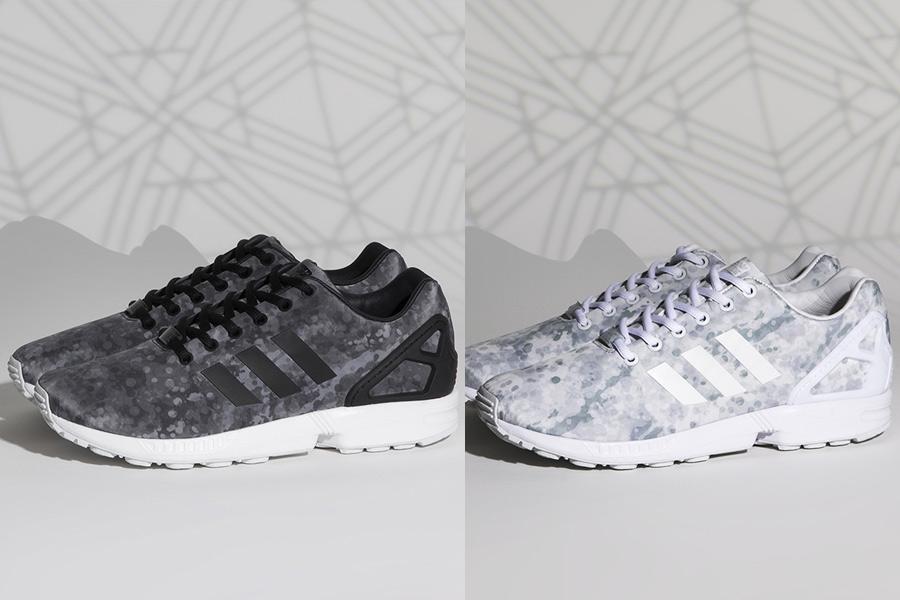 adidas zx flux camo gris