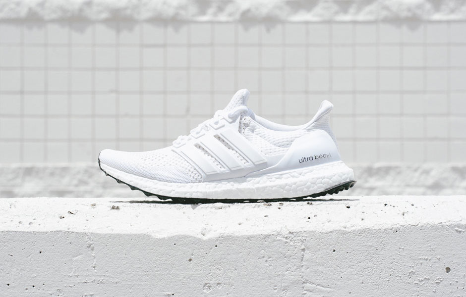 Adidas Boost boutique blanche