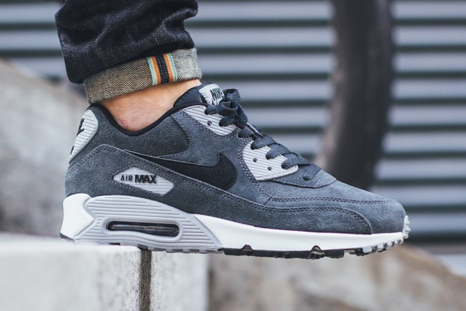 meilleures baskets c889a d5f3c Nike Air Max 90 Leather Anthracite
