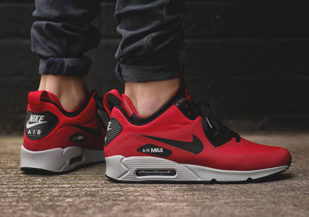 new arrival 8dbbe 30cf9 Nike Air Max 90 Mid Winter Gym Red