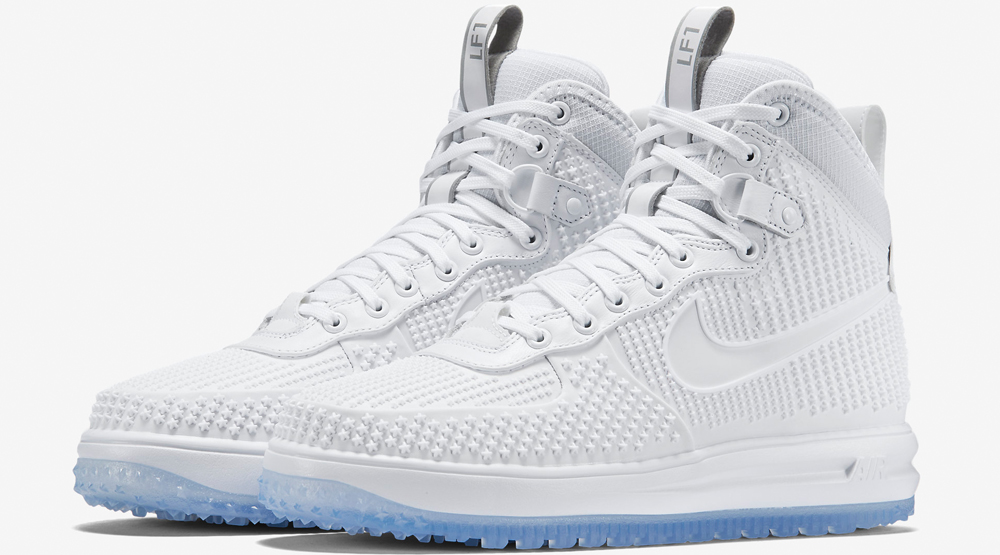 nike lunar force 1 duckboot white/ice