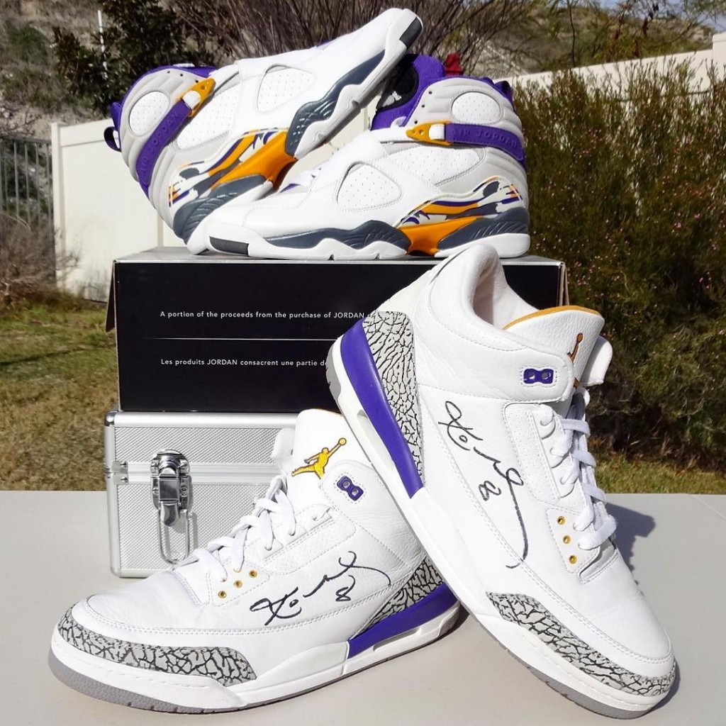 4d6f280955cc Air Jordan 3   8 Kobe PE Pack - Le Site de la Sneaker