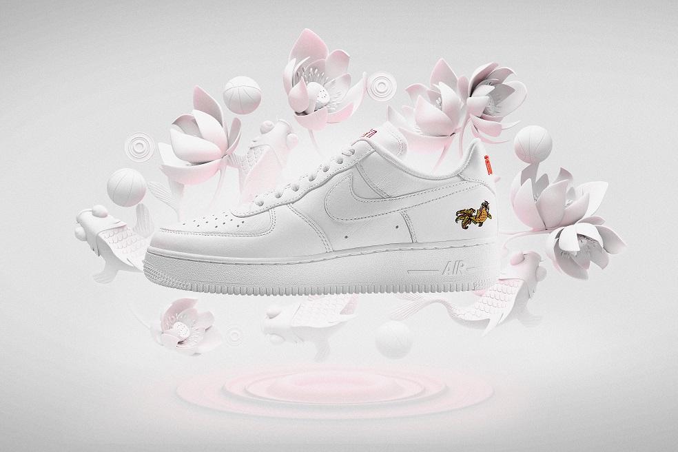 air force 1 fleurs