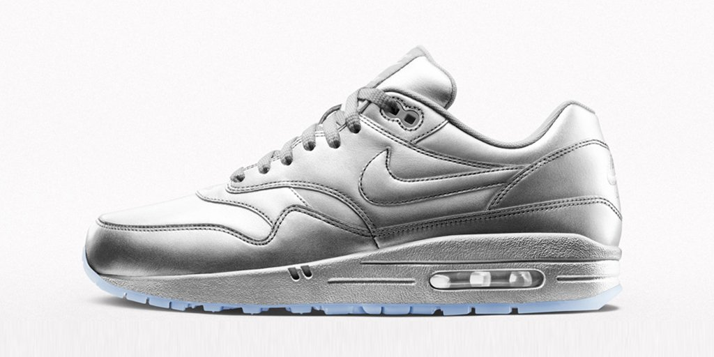 wholesale nike air max 1 silver metallic 3a5d8 7d5ff