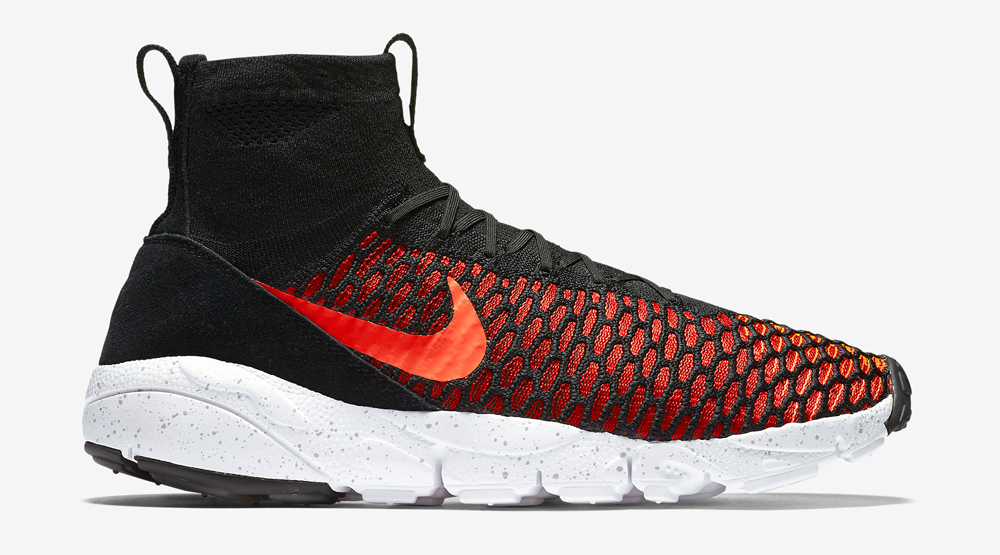 look good shoes sale lace up in exquisite style Nike Air Footscape Magista Flyknit Black/Bright Crimson