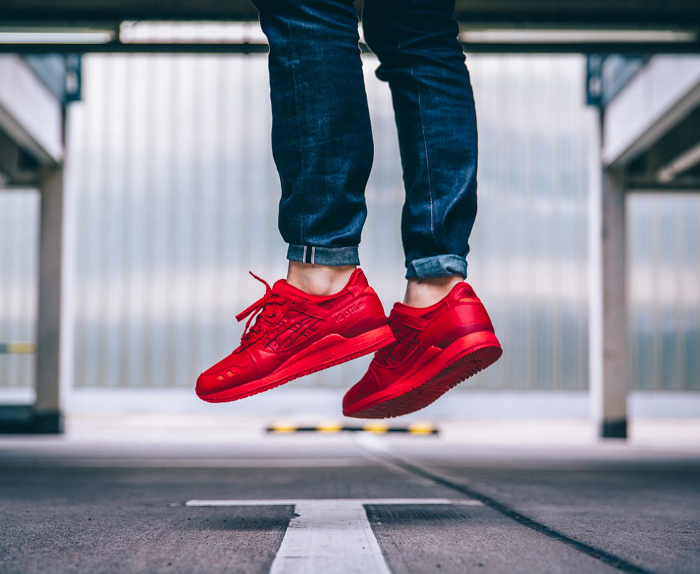 asics gel lyte iii all red