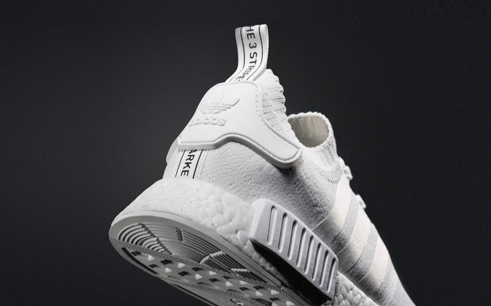 Blanc Adidas Nmd Primeknit KRm84e