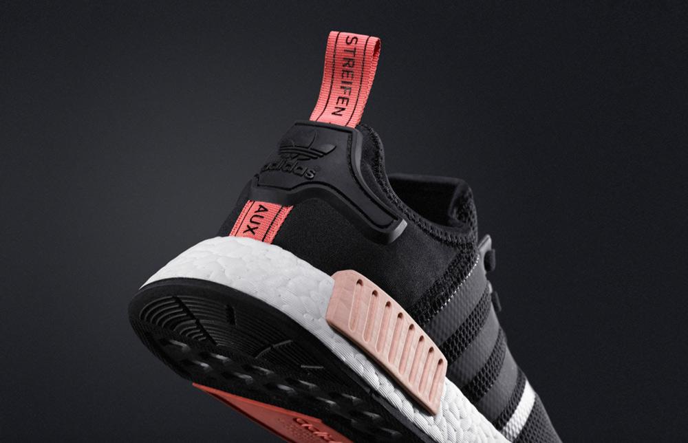 f3b62d286de4e adidas nmd r1 runner black peach pink  adidas nmd runner black peach wmns 4