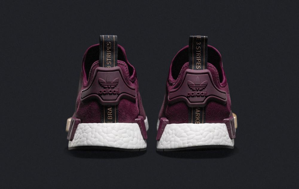 adidas nmd runner suede burgundy