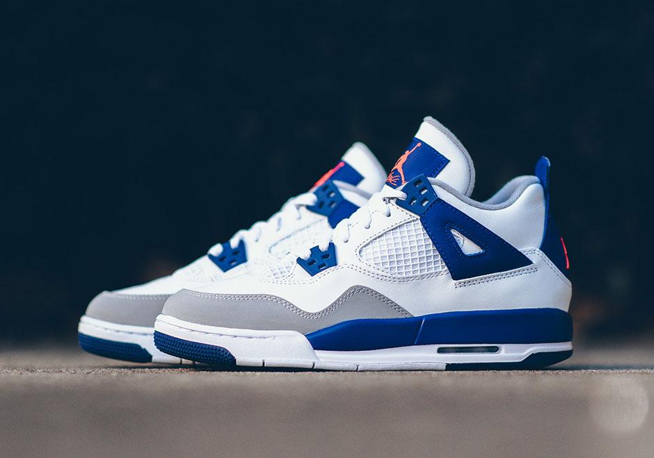 air jordan 4 blanc et bleu