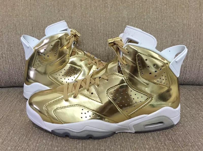 detailed look c617f 77e7c air-jordan-6-pinnacle-metallic-gold