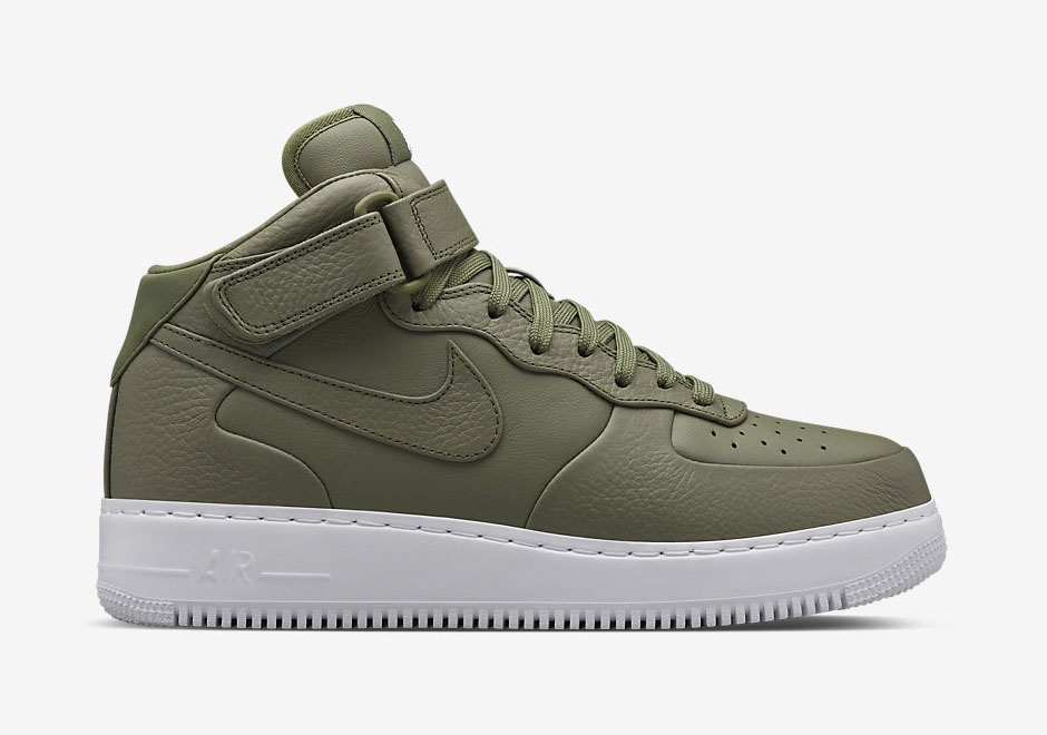nike air force 1 mid vert et blanc