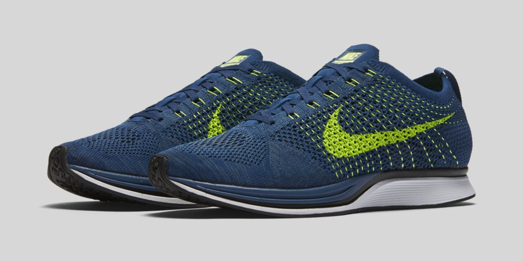 official photos ce5e2 d4dd9 Nike Flyknit Racer Brave Blue