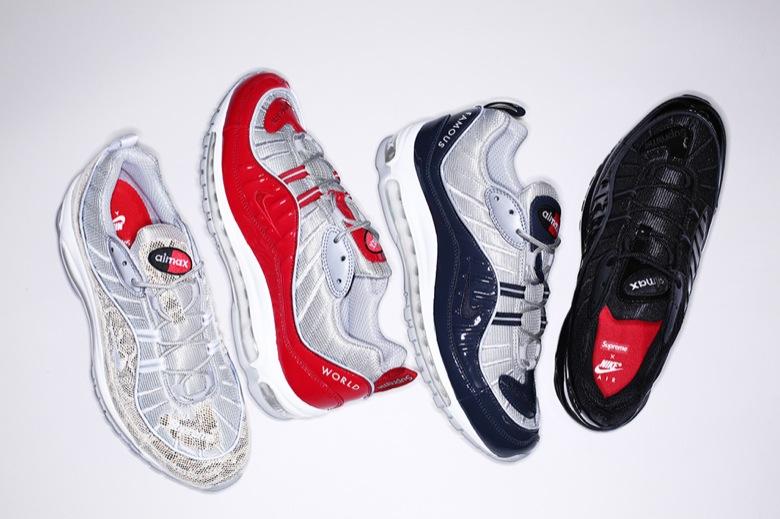 Nike – Supreme x Nike – Air Max 98 « Snake » – Une fille en