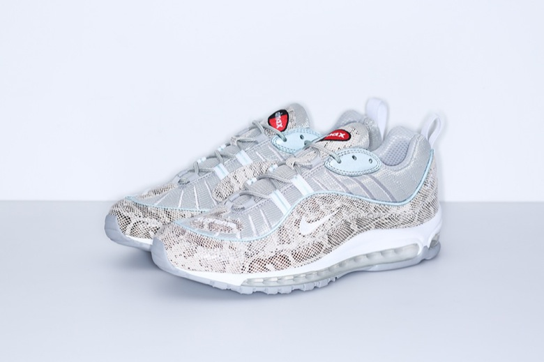 new style 12352 6d380 supreme-nike-air-max-98-sail-snake-844694-