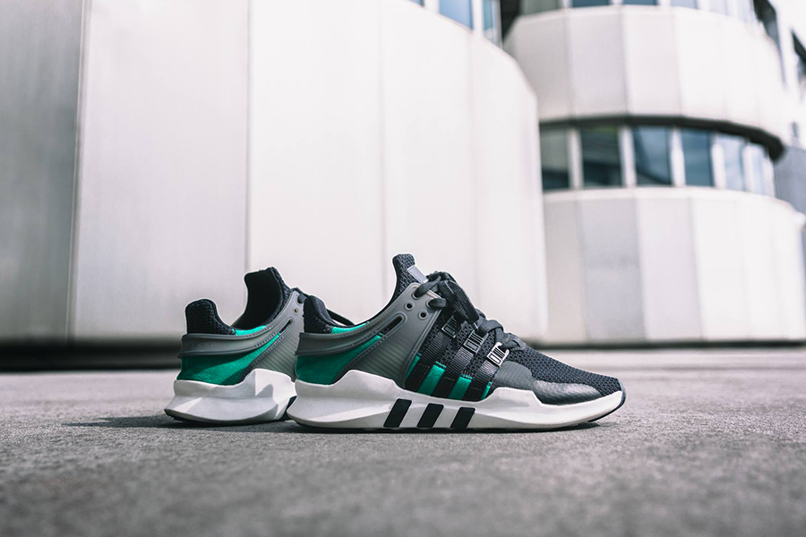 brand new a1e6e e5d47 adidas EQT Support ADV Black/Green