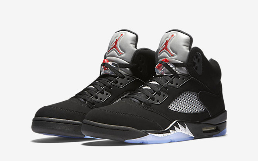 Air Jordan 5 Black Metallic Silver