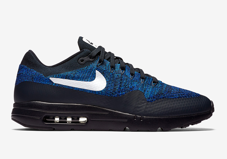 innovative design 48f4a d2a98 Nike Air Max 1 Ultra Flyknit Black/Blue