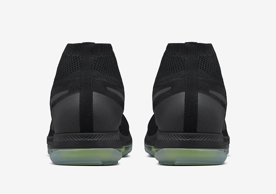 new style c39d3 37c36 nike flyknit zoom all out black volt battery pack