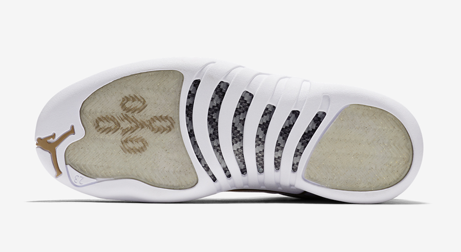 OVO x Air Jordan 12 White Metallic Gold