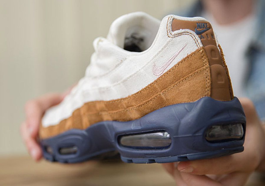 reputable site e80c0 6e861 nike-air-max-95-canvas-suede-brown-navy
