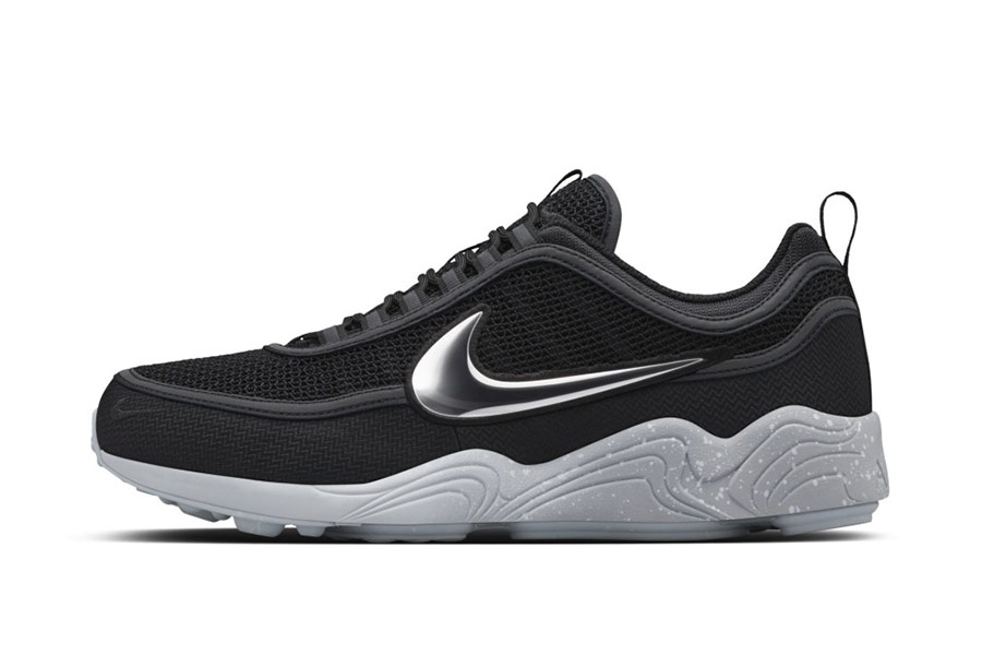 nikelab air zoom spiridon black grey le site de la sneaker. Black Bedroom Furniture Sets. Home Design Ideas