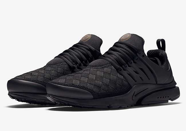 en soldes 84e19 2f3c8 Nike Air Presto SE Woven 'Triple Black'