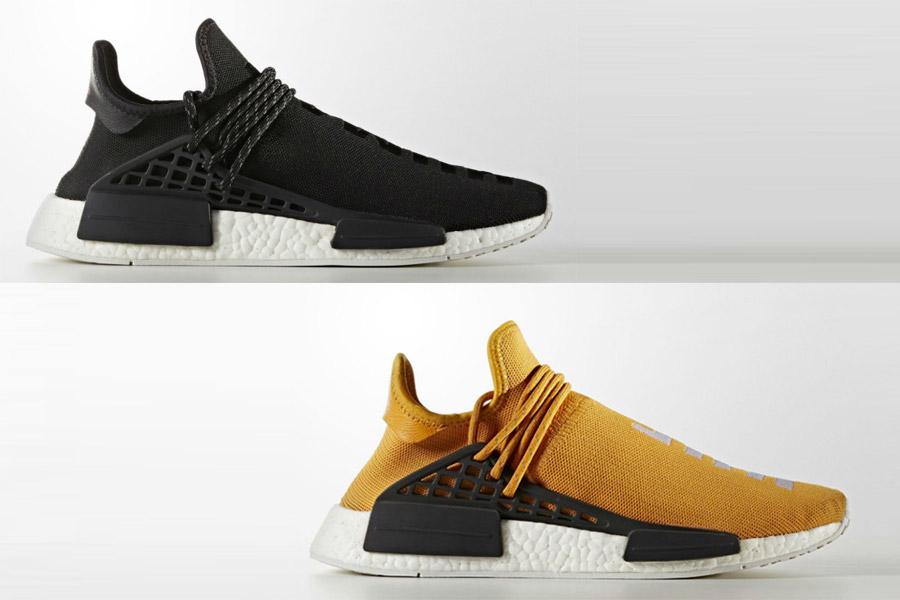 new products 068b1 9613d Pharrell x adidas NMD Human Race Black & Tangerine - Le Site ...