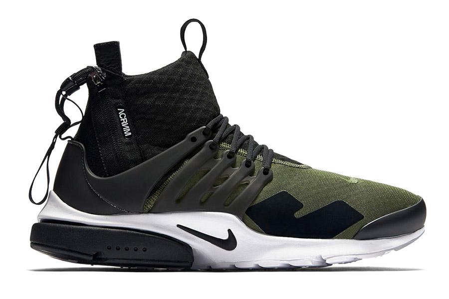 Acronym x NikeLab Air Presto Mid Olive