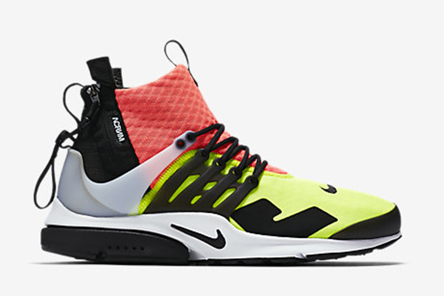 utterly stylish great deals 2017 classic shoes Acronym x NikeLab Air Presto Mid 'Neon'