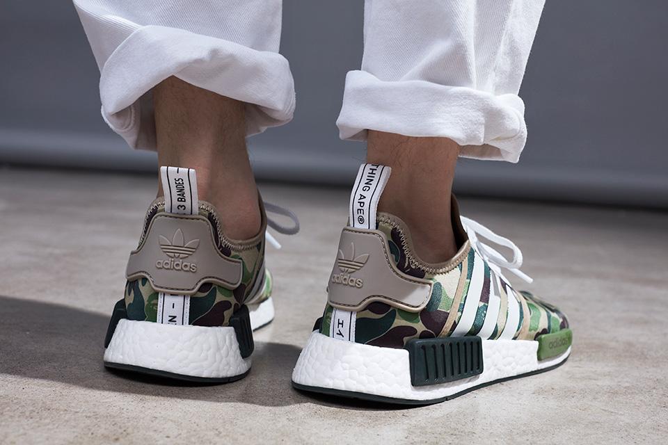 online store b2f8c e3f1d BAPE x adidas NMD R1 Camo Green
