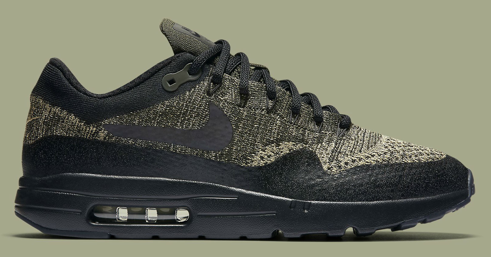 nike air max 1 ultra flyknit olive le site de la sneaker. Black Bedroom Furniture Sets. Home Design Ideas