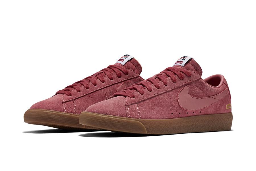 Supreme x Nike SB Blazer Low Pink 716890-669