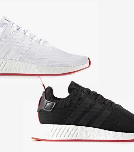 adidas NMD R2 Black Red White