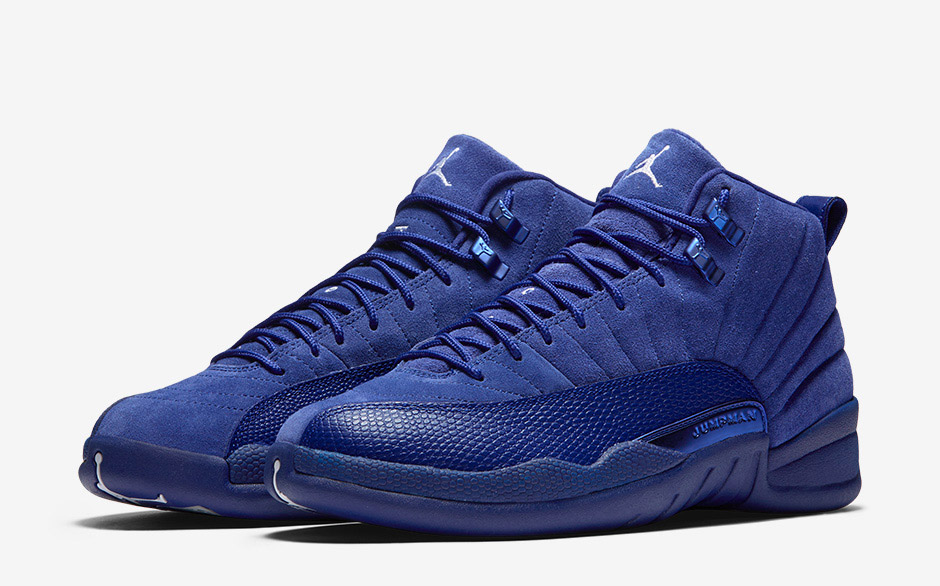 reputable site d2257 5b0f0 Air Jordan 12 Blue Suede