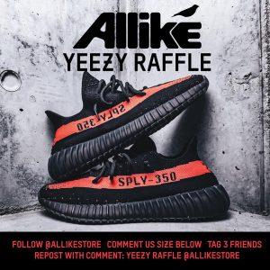 Allike Instagram Yeezy Raffle
