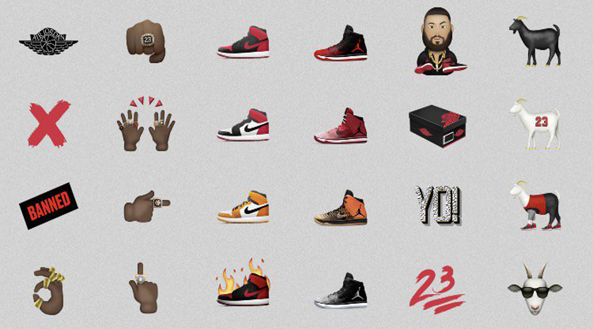 Jordan Brand Emojis Set