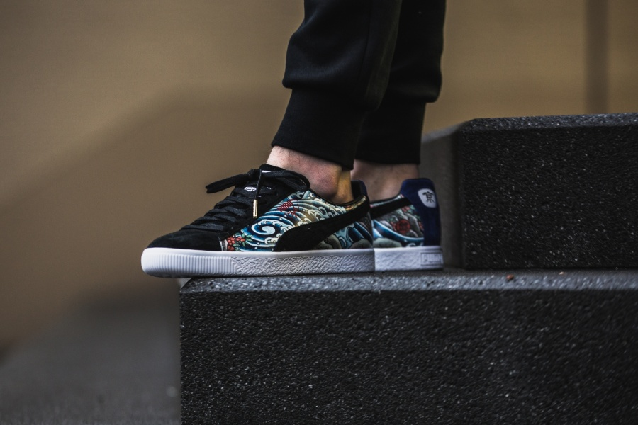 size 40 d6d55 4d41f atmos x Puma Clyde Three Tides Tattoo