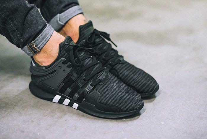 adidas eqt support adv black white le site de la sneaker. Black Bedroom Furniture Sets. Home Design Ideas