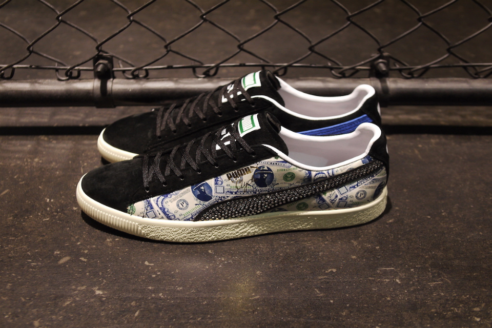 puma clyde blanche