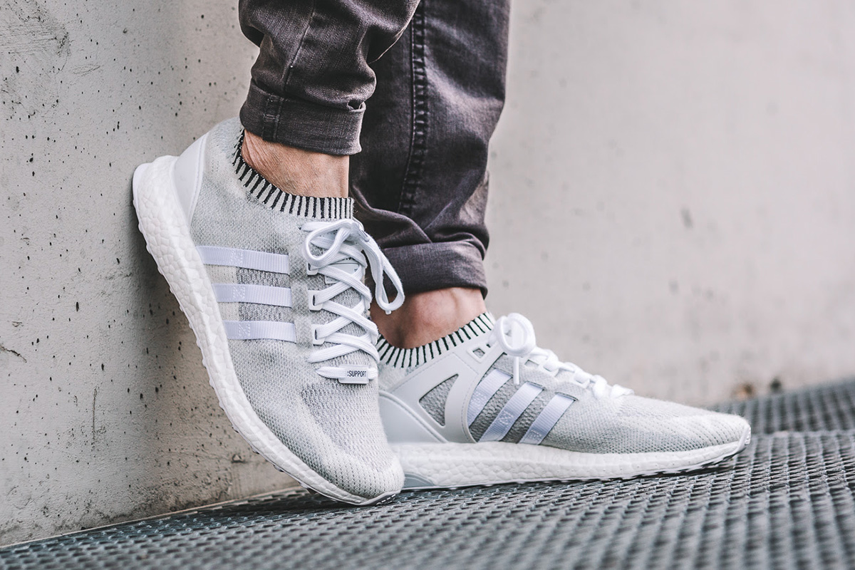 best sneakers 9d6cf 42412 adidas EQT Support Ultra Boost Primeknit White