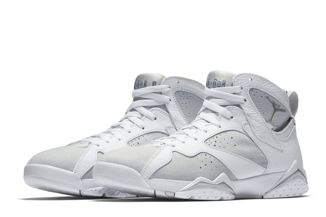 sports shoes 40a64 d95c7 Air Jordan 7 White Metallic Silver
